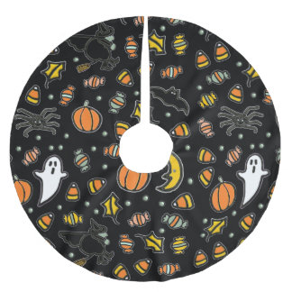 Halloween Home Decor Brushed Polyester Tree Skirt