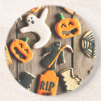 Halloween Homemade Gingerbread Cookies Coasters