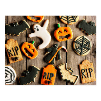 Halloween Homemade Gingerbread Cookies Postcard
