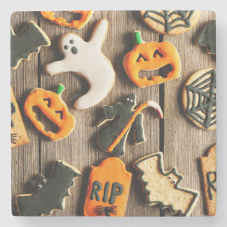 Halloween Homemade Gingerbread Cookies Stone Coaster