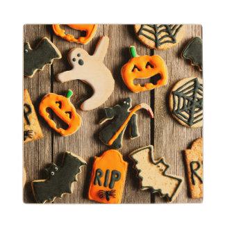 Halloween Homemade Gingerbread Cookies Wood Coaster