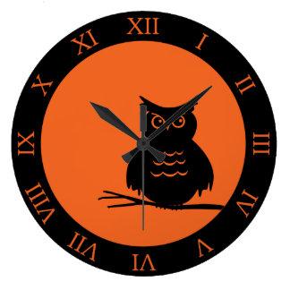 Halloween Hoot Owl Large Clock