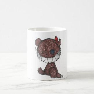 halloween/horror creepy stitched up teddy bear mug