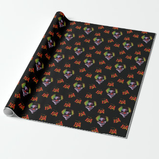 Halloween Horrorclown Pattern Wrapping Paper