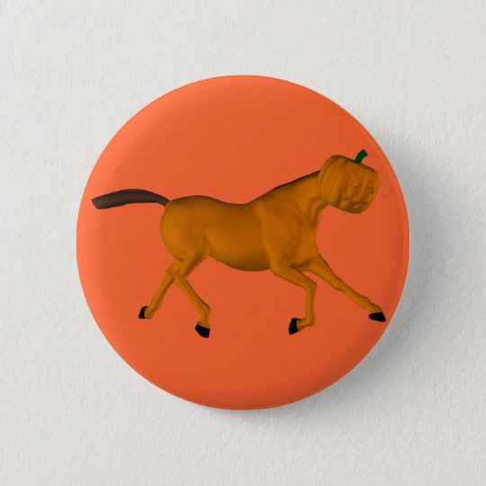 Halloween Horse 6 Cm Round Badge