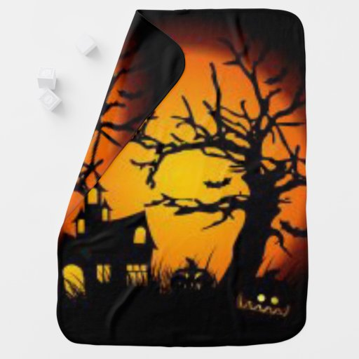 Halloween house Baby Blanket