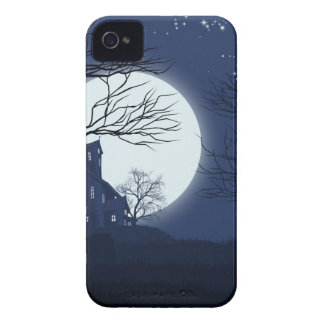 Halloween House Background iPhone 4 Cases