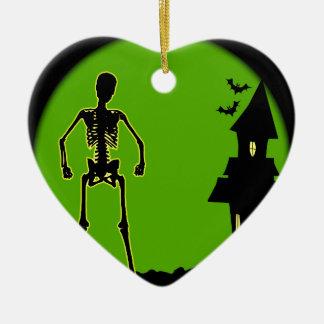 Halloween House Ceramic Heart Decoration