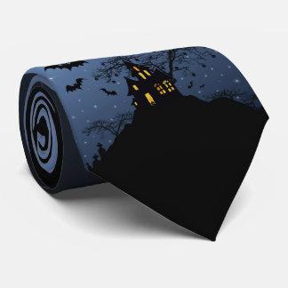 Halloween House Tie