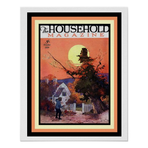 Halloween Household Magazine Cover Poster 16 x 20