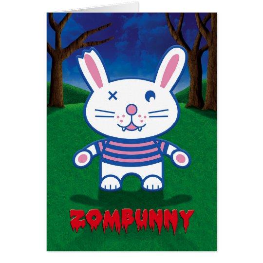 Halloween Humour, Cute Zombie Bunny Rabbit Card