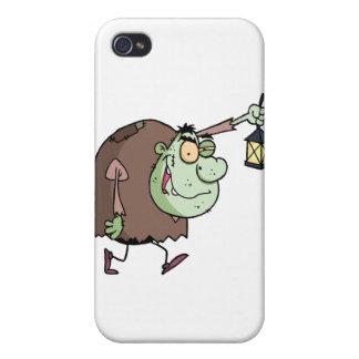 Halloween Igor with lantern iPhone 4 Cover