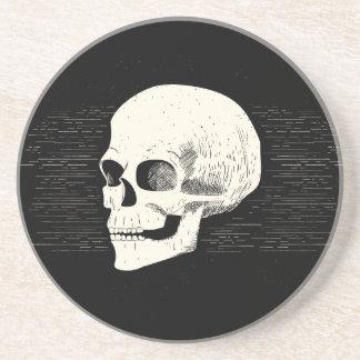 Halloween Illustrated Skull | Sandstone Coaster