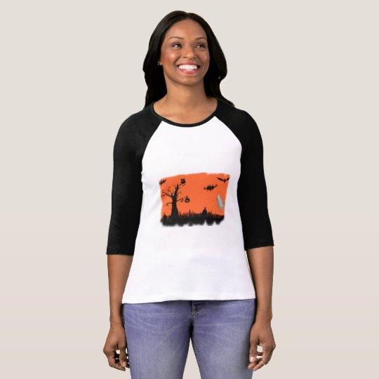Halloween Illustration Women's 3/4 Sleeve T-Shirt