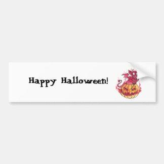 Halloween Imp Bumper Sticker