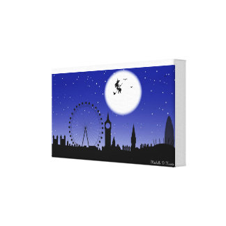 Halloween in London Town Gallery Wrap Canvas