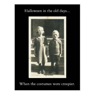 Halloween in the Old Days... Postcard