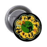 Halloween in the Round Pinback Buttons