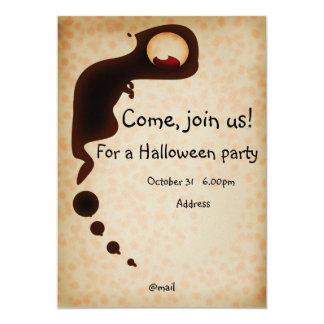 "Halloween invitation card 5"" x 7"" invitation card"