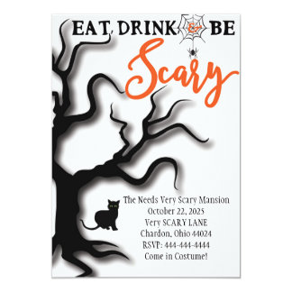 Halloween Invitation Eat, Drink, & Be Scary!