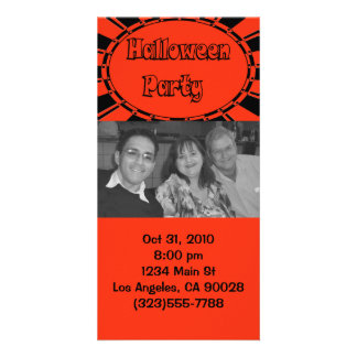 Halloween Invitation Photo Card Template