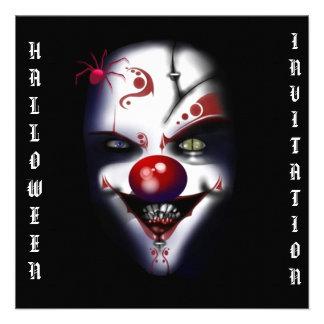 halloween invitation scary clown