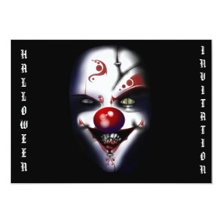 halloween invitation scary clown