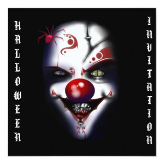 halloween invitation scary evil clown