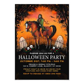 Halloween Invite - Ghoul on Horseback