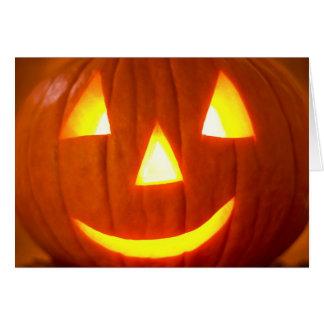 Halloween Jack-o-Lantern card