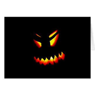 Halloween Jack-O-Lantern Face Greeting Card