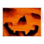Halloween Jack-O-Lantern Face Greeting Card