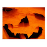 Halloween Jack-O-Lantern Face Post Card