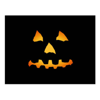 Halloween: Jack-o-Lantern Face: Post Card