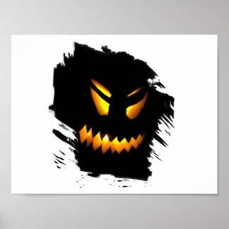 Halloween Jack-O-Lantern Face Poster