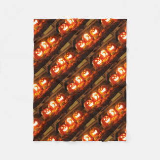 Halloween Jack O Lantern Fleece Blanket