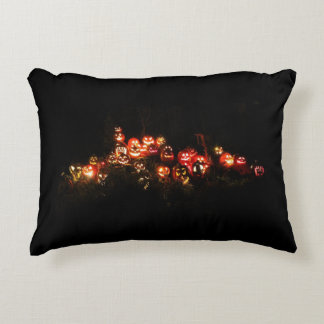Halloween Jack O Lantern Gathering Accent Pillow