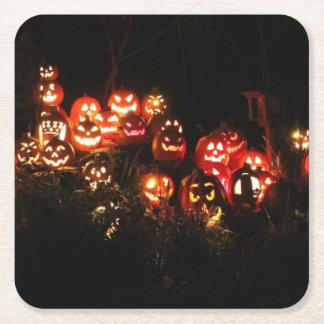 Halloween Jack O Lantern Gathering Coaster
