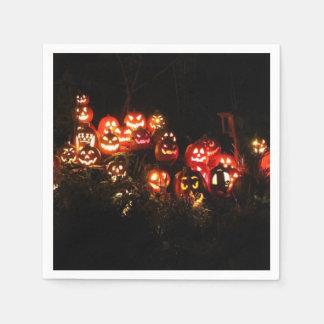 Halloween Jack O Lantern Gathering Cocktail Napkin Paper Napkin