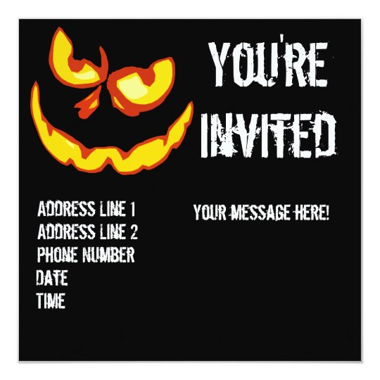 Halloween Jack O Lantern Party Invitation