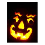 Halloween Jack-O-Lantern Postcard