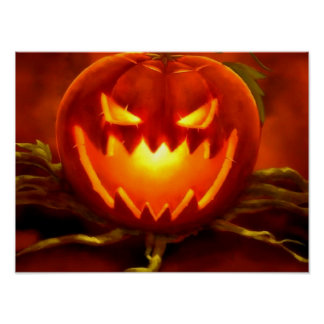Halloween Jack O Lantern Poster