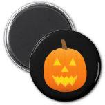 Halloween: Jack-O-Lantern: Pumpkin: 6 Cm Round Magnet