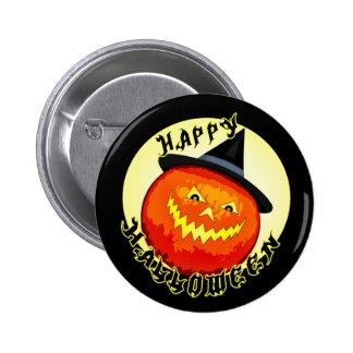 Halloween Jack-O-Lantern Pumpkin Button