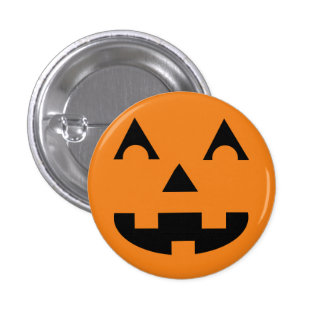 Halloween Jack O Lantern Pumpkin Face 3 Cm Round Badge