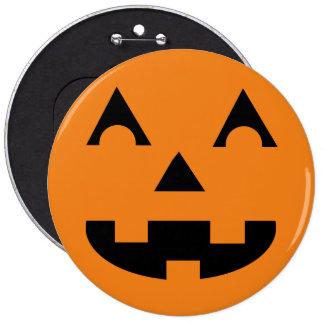 Halloween Jack O Lantern Pumpkin Face 6 Cm Round Badge