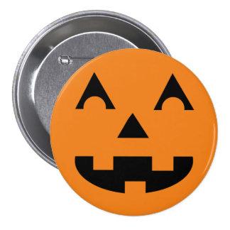 Halloween Jack O Lantern Pumpkin Face 7.5 Cm Round Badge