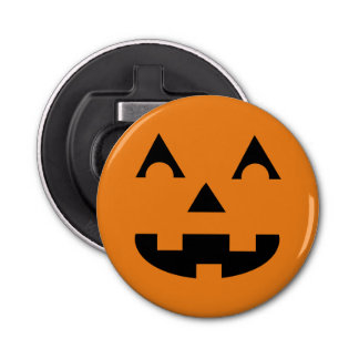 Halloween Jack O Lantern Pumpkin Face Bottle Opener