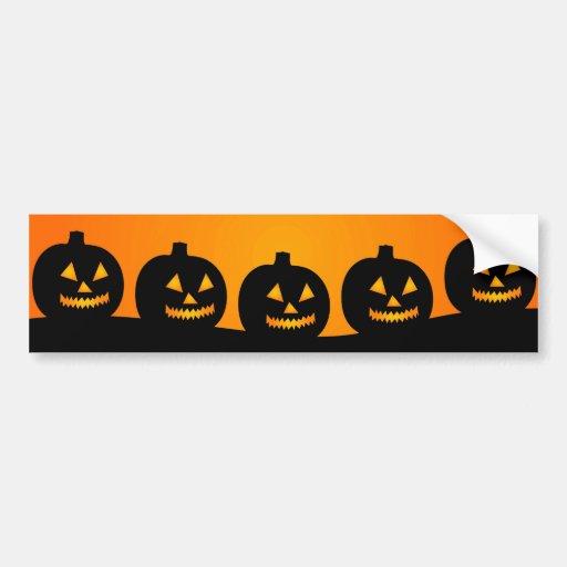 Halloween Jack-O-Lantern Pumpkin Patch Parade Bumper Sticker