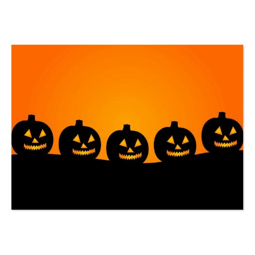 Halloween Jack-O-Lantern Pumpkin Patch Parade Business Card